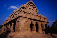 One of the ancient architectural wonders of the Pallava kings Stock Photography