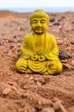 One Ancient Buddha Statue Stock Image