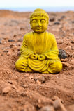 One Ancient Buddha Statue Royalty Free Stock Photography