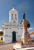 One of the ancient churches of the city Cuenca royalty free stock image