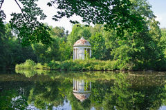 One Ancient Summerhouse in Forest. Moscow region, Russia, East Europe royalty free stock photo