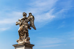 One of the angels at the Castel Sant`Angelo in Rome, Italy. Picture September 2016 Stock Photo