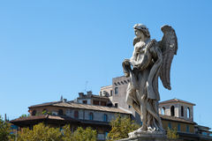 One of the angels at the famous Sant' Angelo bridge Royalty Free Stock Photo