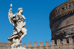 One of the angels at the famous Sant Angelo bridge Stock Image