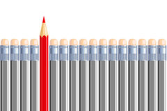One another pencil in some other gray. Be different. Illustration Royalty Free Stock Photography