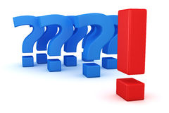 One answer and many questions Royalty Free Stock Images