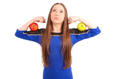 One Apple a day keeps the doctor away Royalty Free Stock Photo