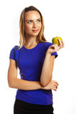 One apple a day keeps doctor away Royalty Free Stock Photo