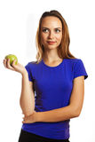 One apple a day keeps doctor away Stock Images