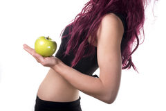 One apple a day keeps doctor away Royalty Free Stock Image