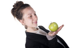 One apple a day keeps doctor away Royalty Free Stock Photos