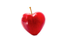 One apple red hearts Royalty Free Stock Photos
