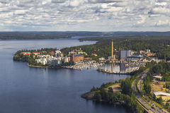 One of the areas of Tampere. Finland Royalty Free Stock Photo