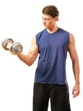One arm bicep curl Royalty Free Stock Photography