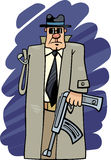 One armed bandit cartoon Stock Photography