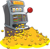 One armed bandit. A cartoon one armed bandit fruit machine Royalty Free Stock Images