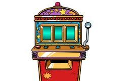 One-armed bandit slot machine. Pop art retro vector illustration vintage kitsch royalty free illustration