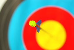 One Arrow in center target Royalty Free Stock Images