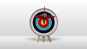 One arrow hitting exactly in the targets 2. One arrow hitting exactly in the targets(included Alpha) stock illustration