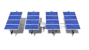 One articulated solar panel module at midday