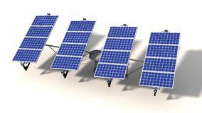 One articulated solar panel module in morning Stock Images