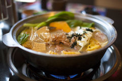 One of asia all kinds of hot pot Royalty Free Stock Images