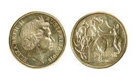 One Australian dollar coin royalty free stock photo