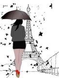 One autumn day in Paris Stock Photos