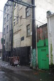 One of back alleys along Hasting Street. Hasting Street in Vancouver's East side is one of the oldest neighborhoods in Vancouver and known as Canada's poorest Royalty Free Stock Photography