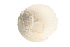 One ball of vanilla ice cream Royalty Free Stock Images