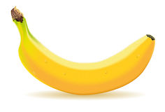 One banana with drops. Detailed illustration of a one banana Royalty Free Stock Photography