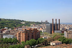 One of Barcelona's views Royalty Free Stock Image