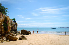One of the beach of Cascais in Lisbon Royalty Free Stock Photo
