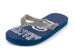 One Beach sandal isolated. On white Royalty Free Stock Photos