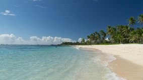 One of beautiful beaches in Samoa tropical paradise stock images
