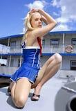 One beautiful blonde junior seawoman Stock Image