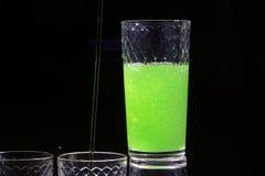 One beautiful bright green shot Stock Photo