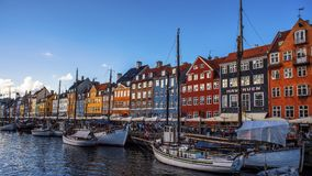 Beautiful day at Nyhavn. One beautiful day at Nyhavn copenhagen denmark Royalty Free Stock Photo
