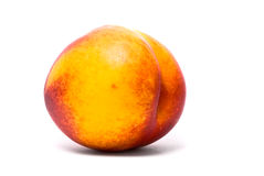 One beautiful juicy nectarine Royalty Free Stock Photo