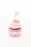 one beautiful pink and violet cupcake Royalty Free Stock Photos