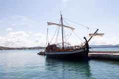One beautiful sailing-ship Stock Image