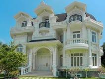 One beautiful three-story house stock photography