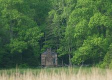 Historic cabin in the Great Smoky Mountains Royalty Free Stock Photo