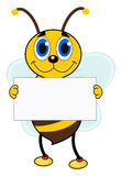 One bee with placard Stock Images
