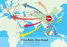 One Belt, One Road, Chinese strategic investment in the 21st cen Stock Photo