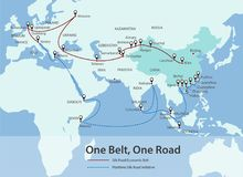 One Belt, One Road, Chinese strategic investment in the 21st cen Stock Image