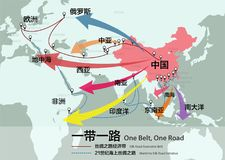 One Belt, One Road, Chinese strategic investment in the 21st cen Stock Images