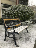 One bench in snow Stock Photography