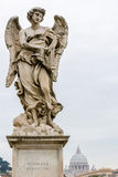 One of Bernini Angels on the ponte Sant'Angelo in Rome, Italy, Royalty Free Stock Images