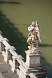 One of Bernini`s angels on Ponte Sant`Angelo Royalty Free Stock Photos